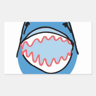 Sharkbite for Shark Week August 10-17 2014 in Blue Rectangular Sticker