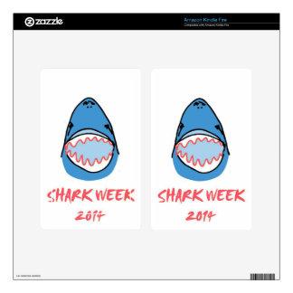 Sharkbite for Shark Week August 10-17 2014 in Blue Kindle Fire Skins