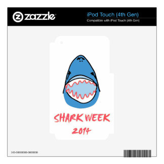 Sharkbite for Shark Week August 10-17 2014 in Blue Decals For iPod Touch 4G