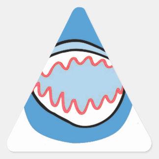 Sharkbite for Shark Week August 10-17 2014 in Blue Triangle Sticker