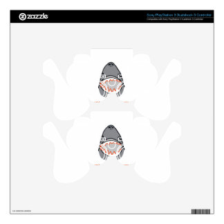 Sharkbite for Shark Week August 10-17 2014 in Grey PS3 Controller Decal