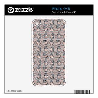 Sharkbite in Atlantic Grey iPhone 4S Skins