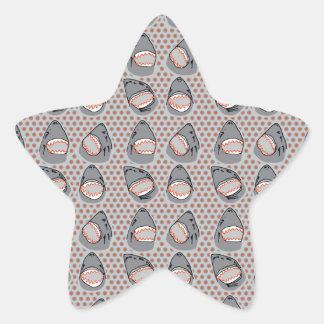 Sharkbite in Atlantic Grey Star Sticker