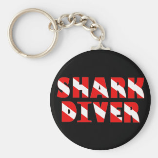sharkdiver copy basic round button keychain