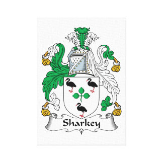Sharkey Family Crest Stretched Canvas Print