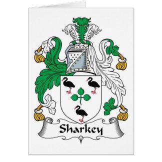 Sharkey Family Crest Greeting Card