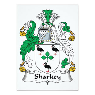 Sharkey Family Crest Invites