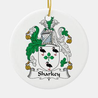 Sharkey Family Crest Christmas Ornaments