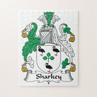 Sharkey Family Crest Jigsaw Puzzles