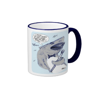 Sharkey Finatra Swimmin' Coffee Mugs