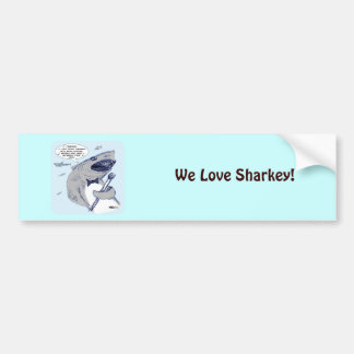 Sharkey Finatra Swimmin Pegatina Para Auto
