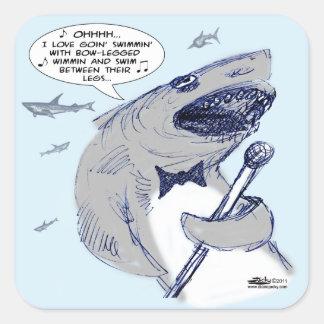 Sharkey Finatra Swimmin' Square Sticker