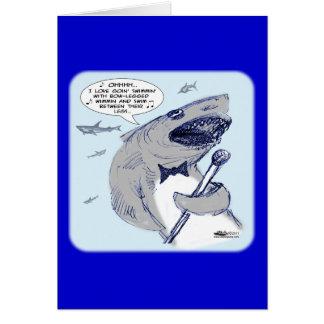Sharkey Finatra Swimmin Tarjeta Pequeña
