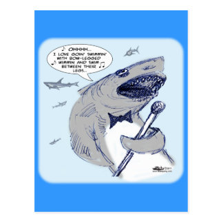 Sharkey Finatra Swimmin Tarjeta Postal