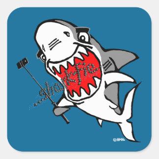 Sharkfie Square Sticker