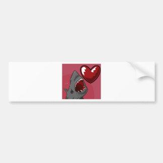 Sharkheart Bumper Sticker