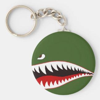 Sharkmouth Basic Round Button Keychain
