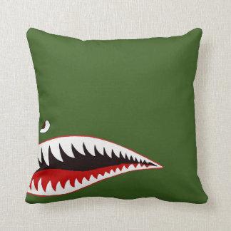 Sharkmouth Throw Pillow
