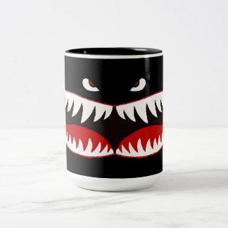 Sharkmouth Two-Tone Coffee Mug