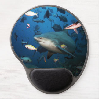 Sharks and fish gel mouse pad