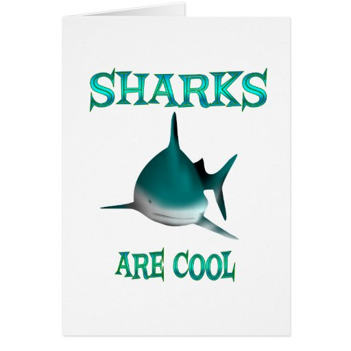 Sharks are Cool Card