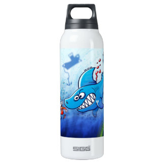 Sharks are Furious, Stop Finning! 16 Oz Insulated SIGG Thermos Water Bottle