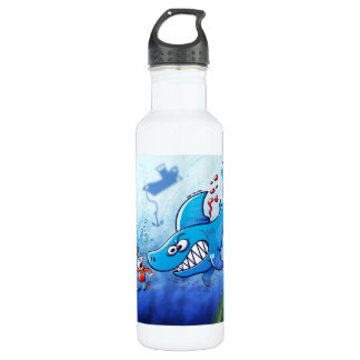 Sharks are Furious, Stop Finning! 24oz Water Bottle