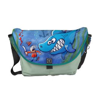 Sharks are Furious, Stop Finning! Messenger Bag