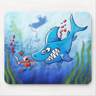 Sharks are Furious, Stop Finning! Mouse Pad