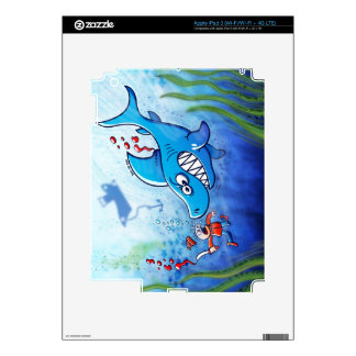 Sharks are Furious, Stop Finning! Decals For iPad 3