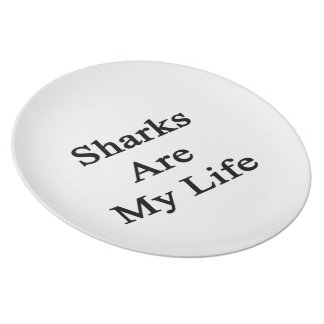 Sharks Are My Life Party Plate