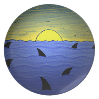 Sharks at Sunset Party Plates