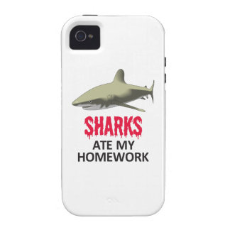 SHARKS ATE MY HOMEWORK CASE FOR THE iPhone 4