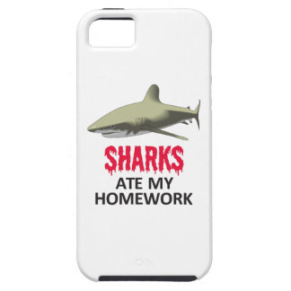 SHARKS ATE MY HOMEWORK iPhone 5 CASES