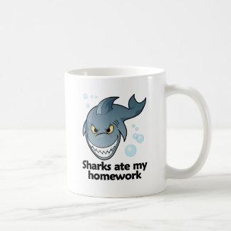 Sharks ate my homework coffee mug