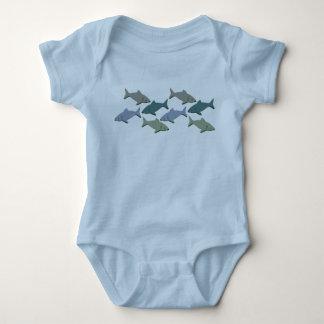 SHARKS! BABY BODYSUIT