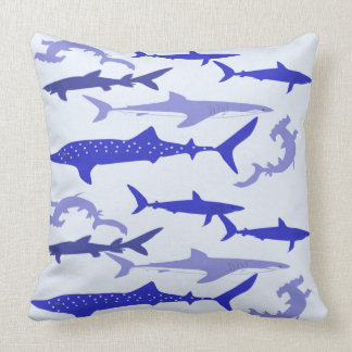 Sharks Blue Throw Pillow