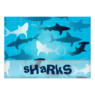 sharks large business cards (Pack of 100)