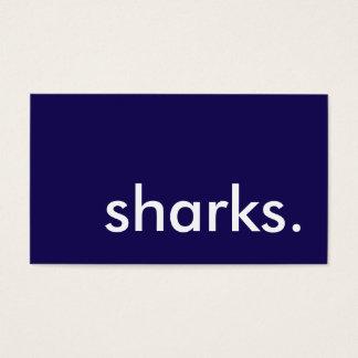 sharks. business card