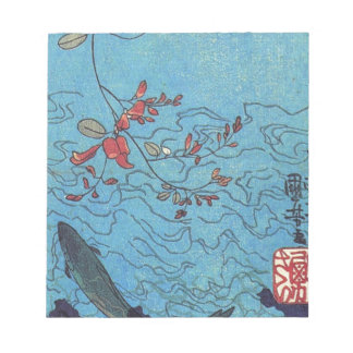 Sharks by Utagawa Kuniyoshi Notepad