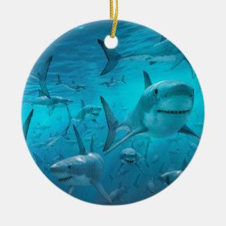 Sharks Ceramic Ornament