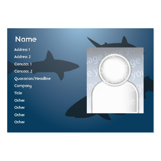 Sharks - Chubby Large Business Cards (Pack Of 100)