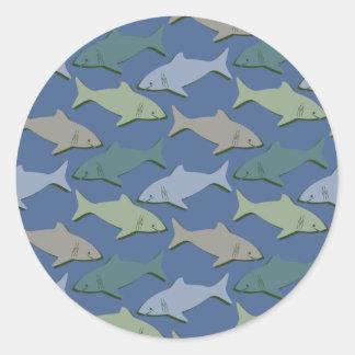 SHARKS! CLASSIC ROUND STICKER