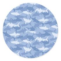 Sharks Classic Round Sticker