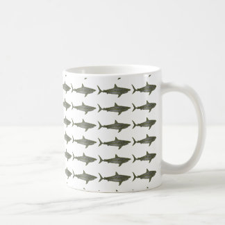 Sharks cool pattern coffee mug