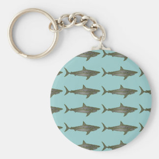 Sharks cool pattern keychain