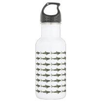 Sharks cool pattern stainless steel water bottle