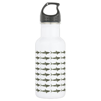 Sharks cool pattern stainless steel water bottle