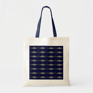 Sharks cool pattern tote bag