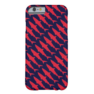 Sharks cool red & blue pattern barely there iPhone 6 case